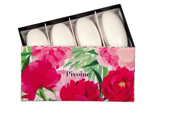 Imagine a Set 4 sapunuri Pivoine 4x50g